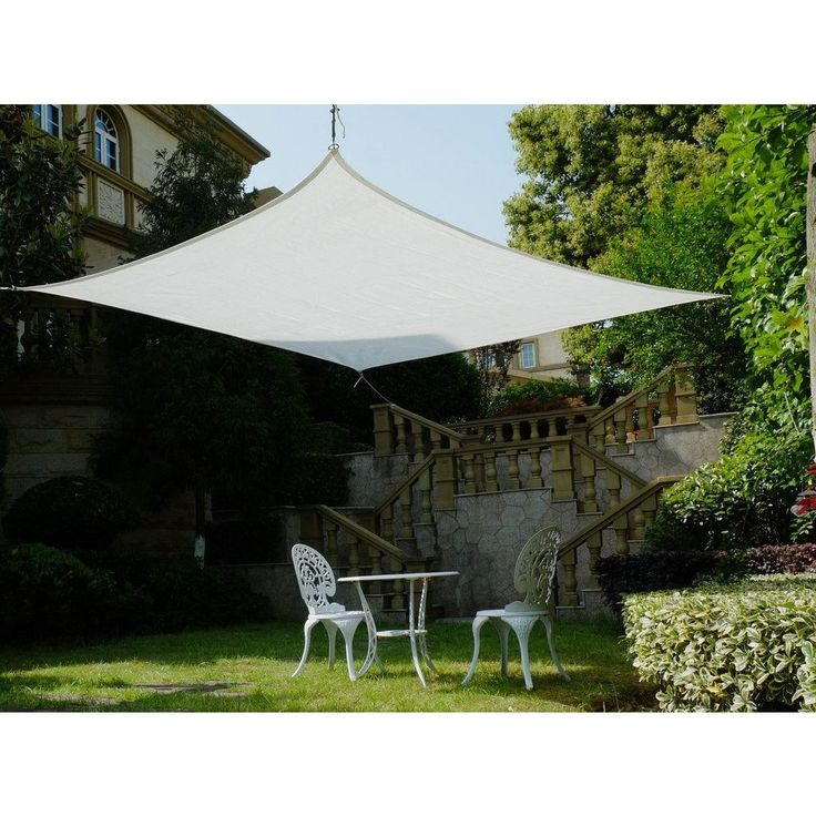 Cool Area Square 16 Feet 5 Inches Sun Shade Sail, UV Block Patio Sail Perfect for Outdoor Patio Gardenin Color #ASS-18514-W