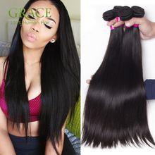 8A Nertsen Menselijk Haar Weave Peruaanse Virgin Hair Straight 4 Bundels Deal Rosa Haarproducten Onverwerkte Peruaanse Virgin Haar Bundel(China (Mainland))