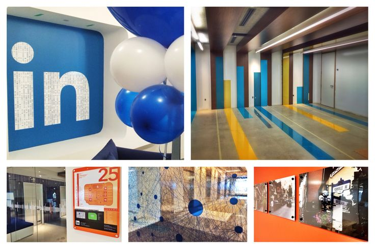 Some of LinkedIn's Environmental Graphics.
