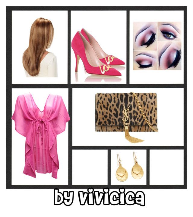 """""""Pink animale"""" by vivicica on Polyvore featuring Yves Saint Laurent, Kate Spade and Brooks Brothers"""