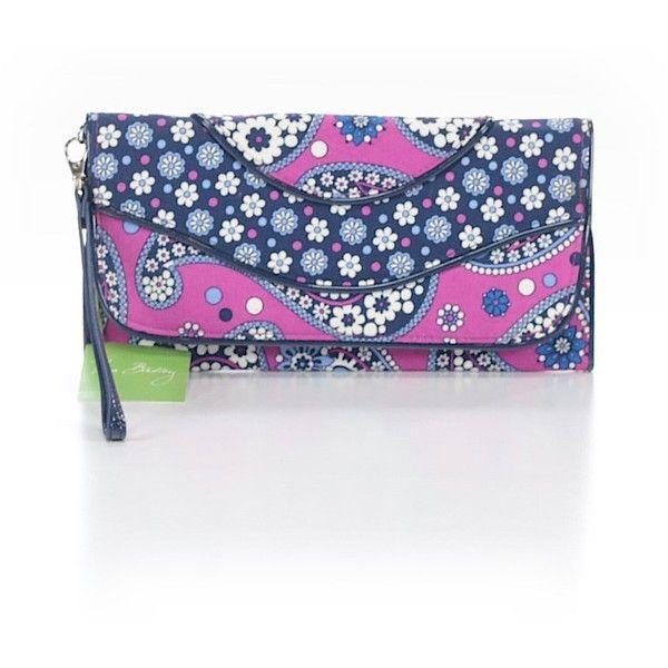 Vera Bradley Wristlet ($33) ❤ liked on Polyvore featuring bags, handbags, clutches, dark blue, vera bradley wristlet, purse wristlet, vera bradley, handbag purse and dark blue purse