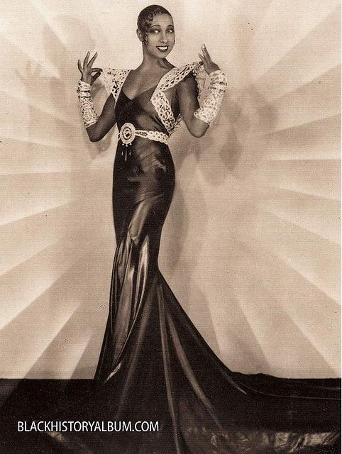 Josephine Baker, Sepia Dreams | c1920s Vintage African American photography courtesy of Black History Album, The Way We Were.