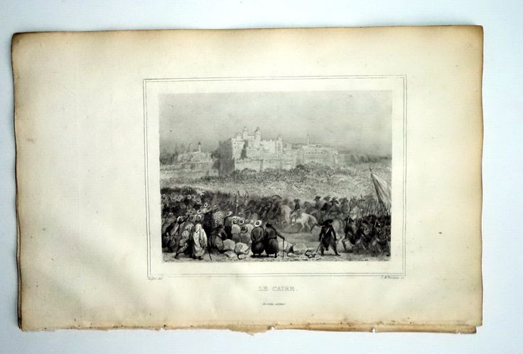 Antique 1835 Engraving Napoleon Battle of Cairo original print 1st Perrotin Book Plate Fontaine French History Emperor art Prop Decor Gift by MushkaVintage3 on Etsy