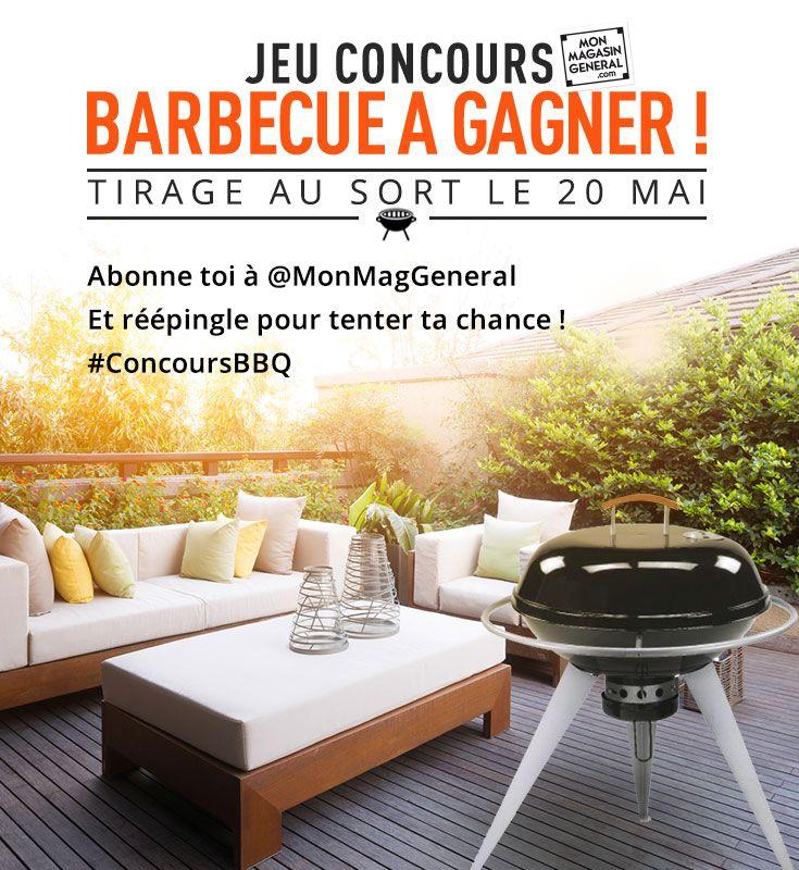 Envie de gagner un BARBECUE pour cet été ? CONCOURS Pinterest : Pour participer abonne toi à @MonMagasinGeneral et réépingle cette photo sur un de tes tableaux ! Résultats le 20 mai #CONCOURSBBQ