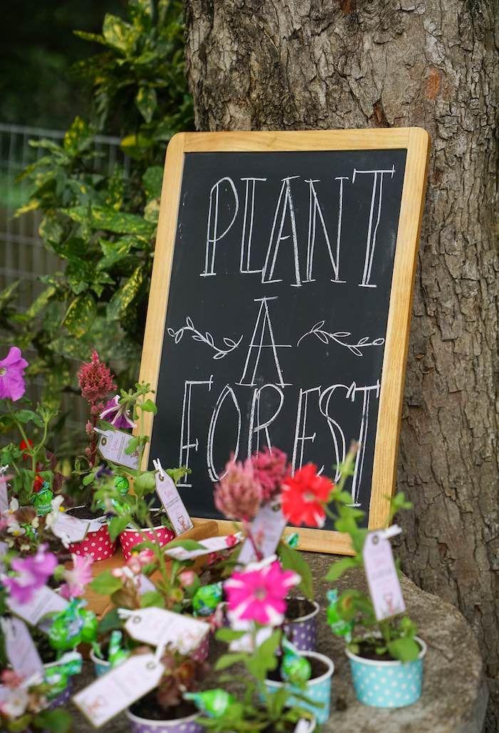 Chalkboard Sign from a Boho Enchanted Forest Birthday Party via Kara's Party Ideas | KarasPartyIdeas.com (8)