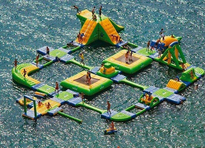 Amazing inflatable water park!