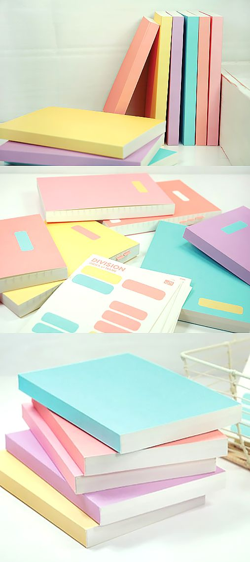 for a pop of color in your backpack this school year these adorable pastel notebooks