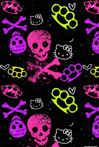84 best skull wallies images on pinterest background images multicolored hello kitty n knucks voltagebd Gallery