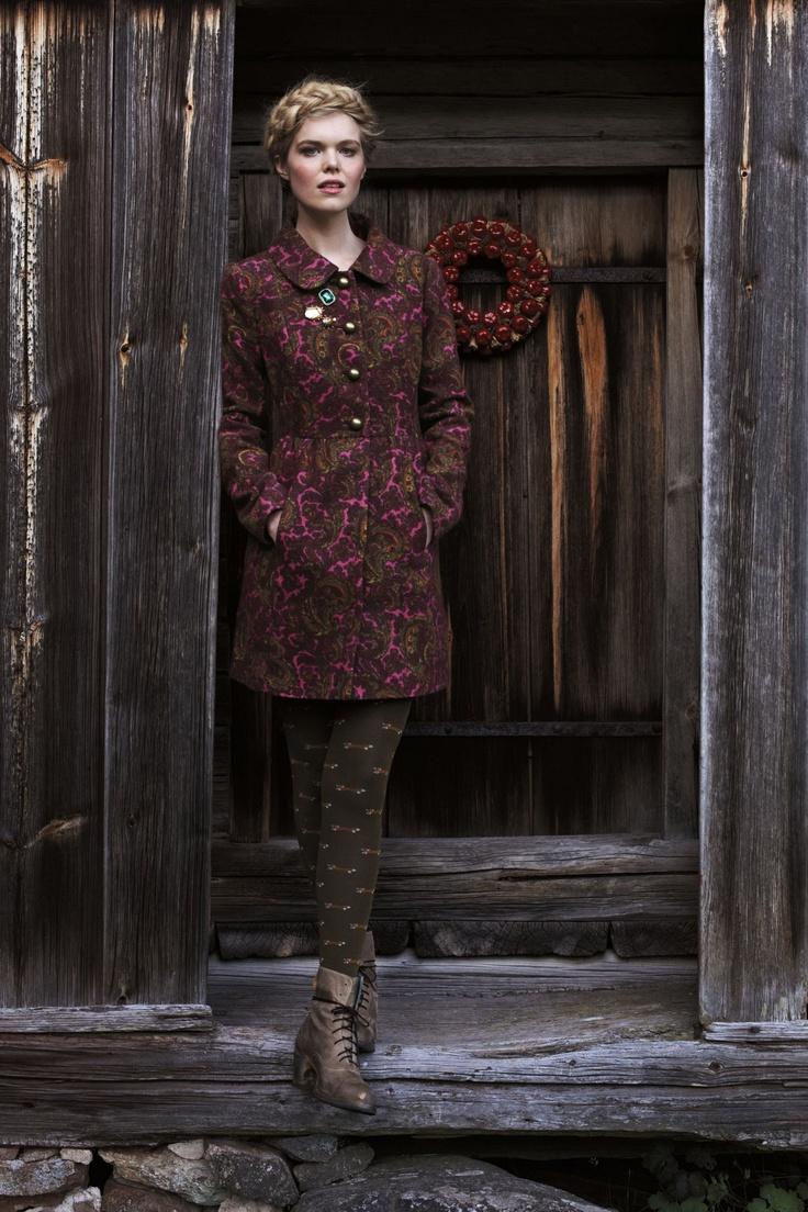 #festivefaves Anthropologie Plum Paisley Coat. $268. @Anthropologie