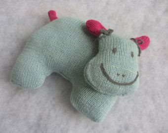 Hand knit hippo baby toy made of all natural baby merino wool. - Edit Listing - Etsy