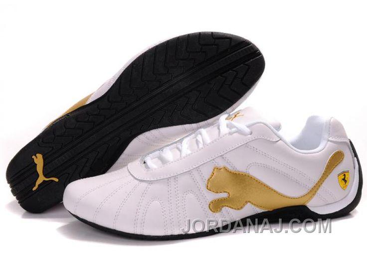 Men's Puma Speed Cat Big In White/Golden/Black Cheap To Buy