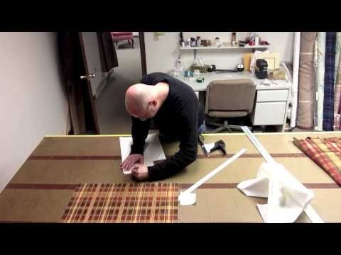 How to make a scalloped valance with contrast pleats - YouTube