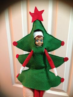 Elf on the Shelf idea. All you need is felt and some sewing skills.