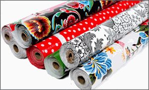 Oilcloth Alley:  Awesome selection of oilcloth by the yard.