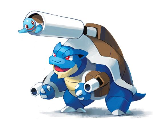 Squirtle / Mega Blastoise | Pokémon | Pinterest