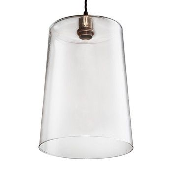 Old School Electric - Blown Glass Tapered Pendant - Bronze