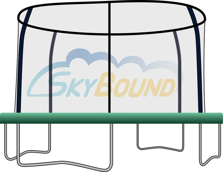 12 ft Trampoline Pad - 4 holes JumpPod - Trampoline Spring Cover