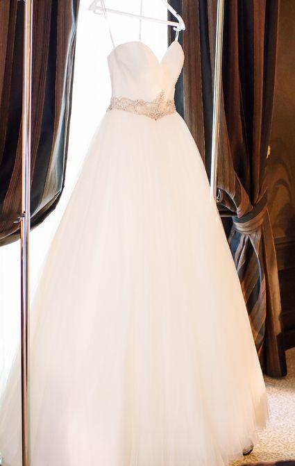 Robe de mariée Demetrios 532 Modèle Ilissa en tulle souple et traine