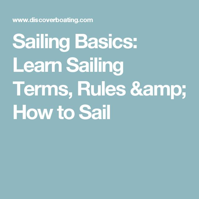 Sailing Basics: Learn Sailing Terms, Rules & How to Sail