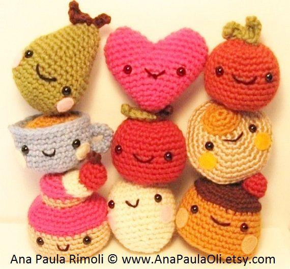 Amigurumi Chiquititos patron/tutorial de crochet por anapaulaoli, $5,00
