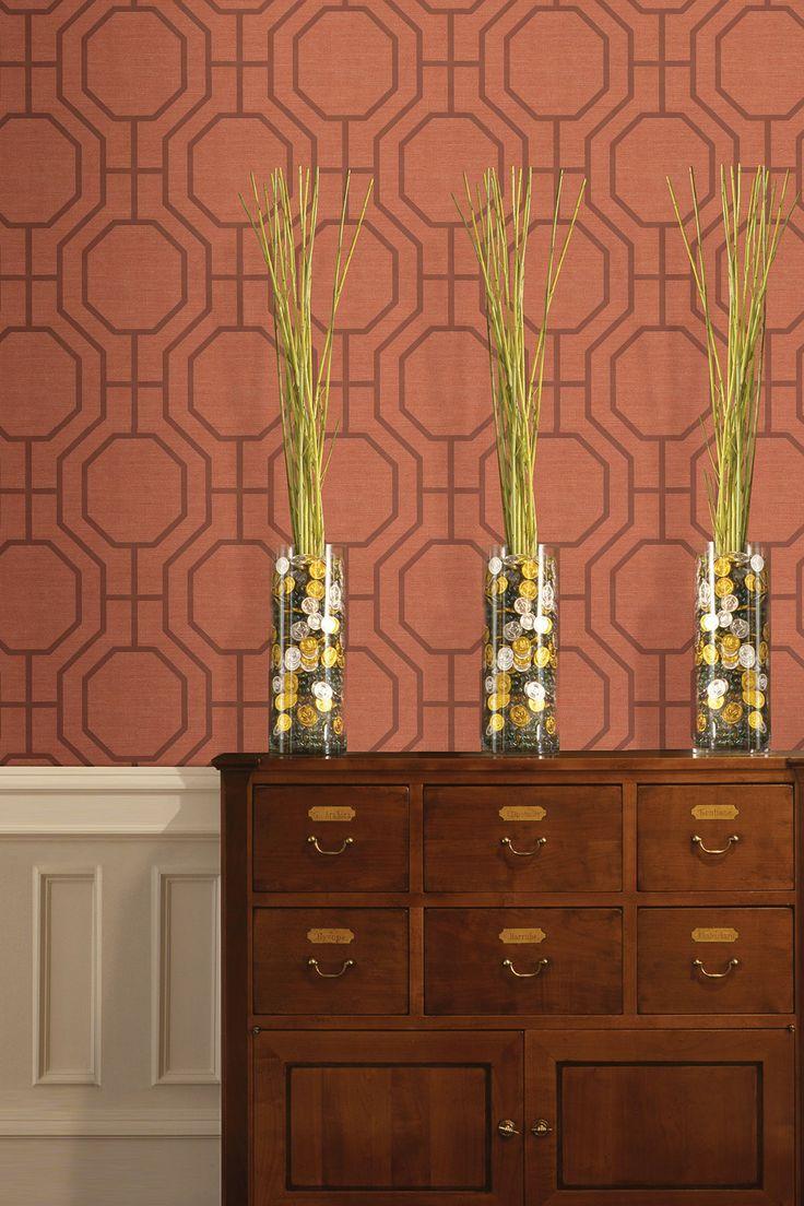 36 best bathroom wallpaper images on pinterest bathroom joseph abboud orange modern ironwork wallpaper by ultra removable eco wallpaper on