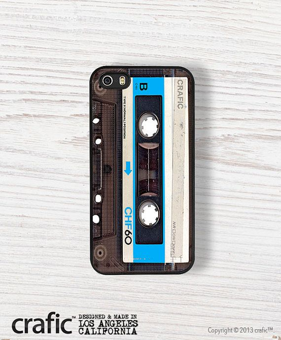 Blue Vintage Cassette Tape iPhone 5/5S Bumper Case by CRAFIC, $24.00
