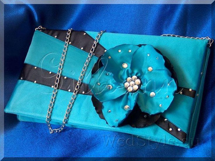 Вечерняя сумочка клатч Gilliann Бирюзовая романтика EVA063, http://www.wedstyle.su/katalog/bride/vsum/turquoise_romantic, http://www.wedstyle.su/katalog/bride/vsum, evening bag, clutch