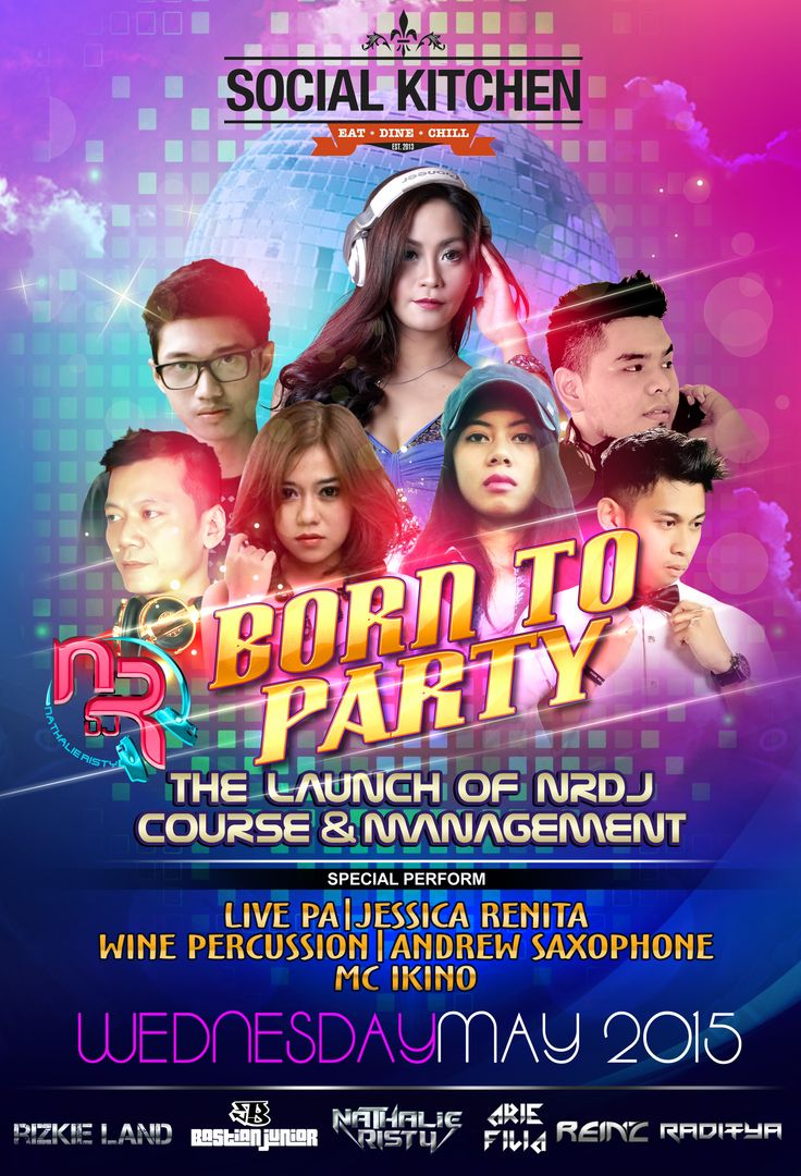 Flyer Born To Party | 2015