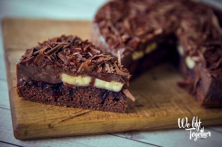 Zdravá Fit čokoládovo-banánová torta | We Lift Together