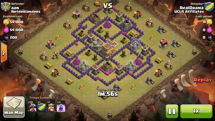 Attacker TH8: 10 Level 3 Dragon, 5 Level 6 Balloon, Level 5 Barbarian King, 3 Level 5 Rage Spell Defender TH: Level 5 Barbarian King, Rank 10/20