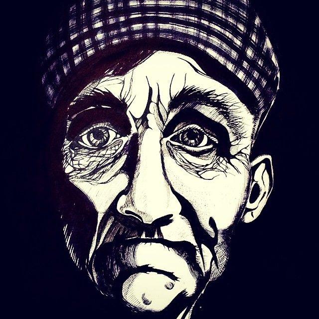 #арт #аригарт #глаза #графика #старик #старость #клетка #картина #иллюстрация #рисунок #art #arigart #ink #indianink #illustration #picture #painting #graphic #graphicarts #тушь #тень #мужчина #