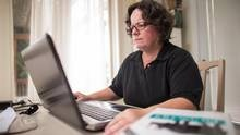 After losing her job at an auto plant, Sue Bechard has slashed her living expenses and returned to school. (GEOFF ROBINS FOR THE GLOBE AND MAIL)Geoff Robin, Sue Bechard, Auto Plants, Living Expensive