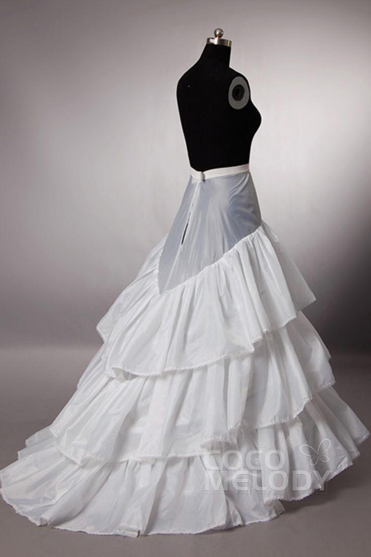 A-Line+Sweep-Brush+Train+Medium+Fullness+Slip+Polyester+Taffeta+Wedding+Petticoats+CP0013008