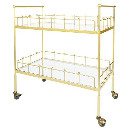 Fitz 2-Tier Rectangular Bar Cart - Silverwood : Target