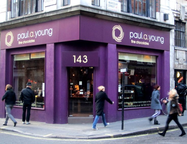 Paul A Young Chocolate shop