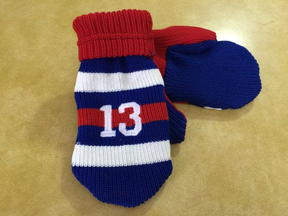 Number Hockey Sock Mittens by SoWildApparel on Etsy