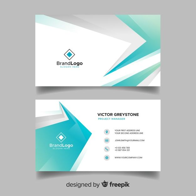 Download Flat Abstract Business Card Template For Free Free Business Card Templates Business Card Template Dental Business Cards