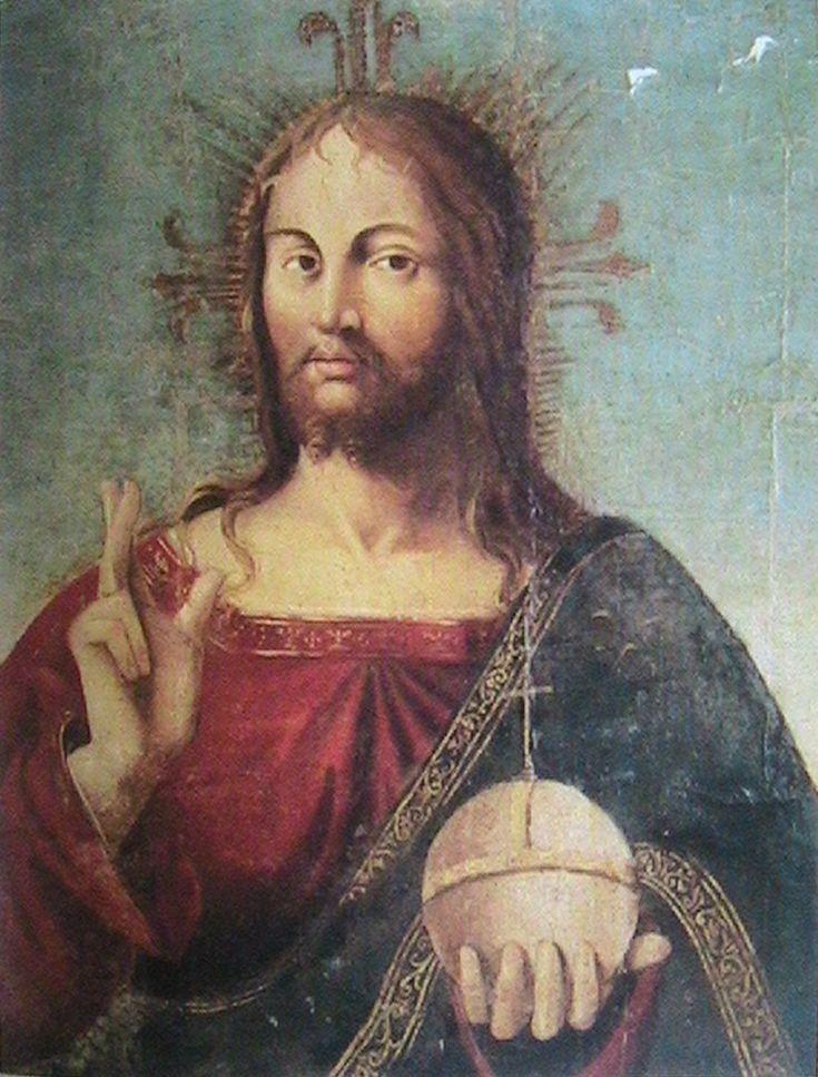 Christ   - Antonello da Messina. turquoise background. love.