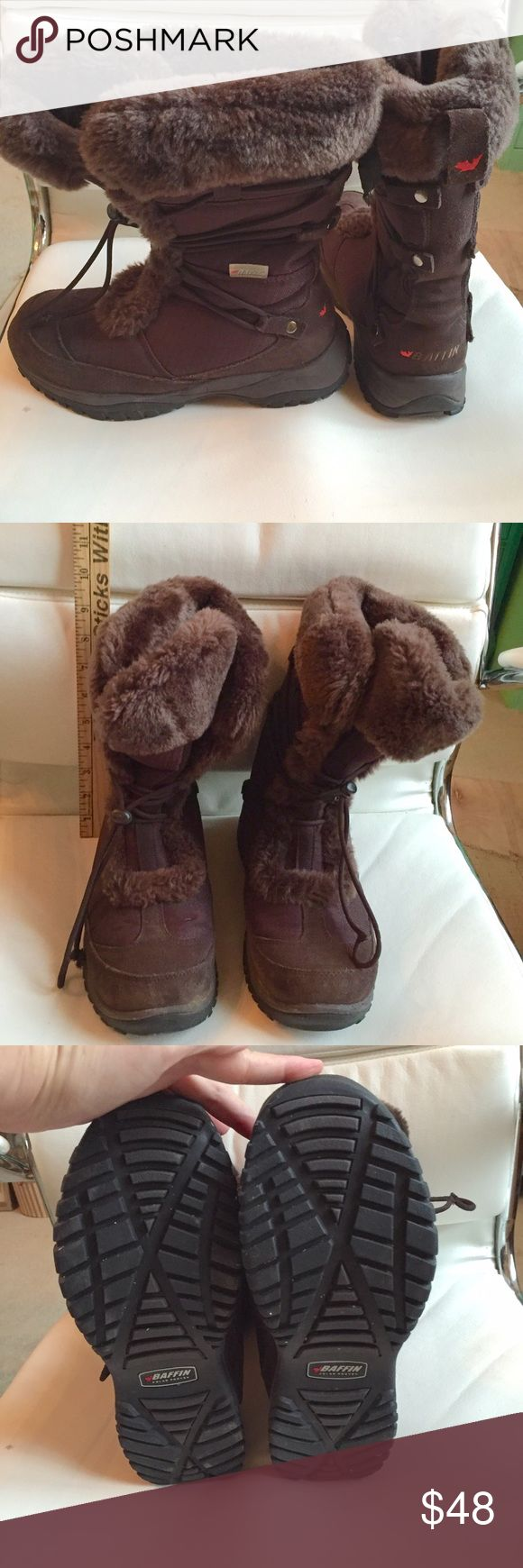 Baffin Winter Boots Worn three times, like new, soles are perfect!  The toggle laces are AWESOME!  No tying!  These boots will totally give your feet the warm fuzzies!  Listed for 69% off original price!! Baffin Shoes Winter & Rain Boots