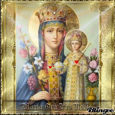 Maria mit dem Kinde lieb uns allen Deinen Segen gib