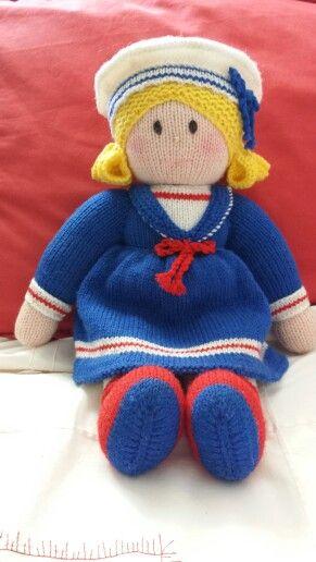 My hand knit - Sailor Girl #JeanGreenhowePattern