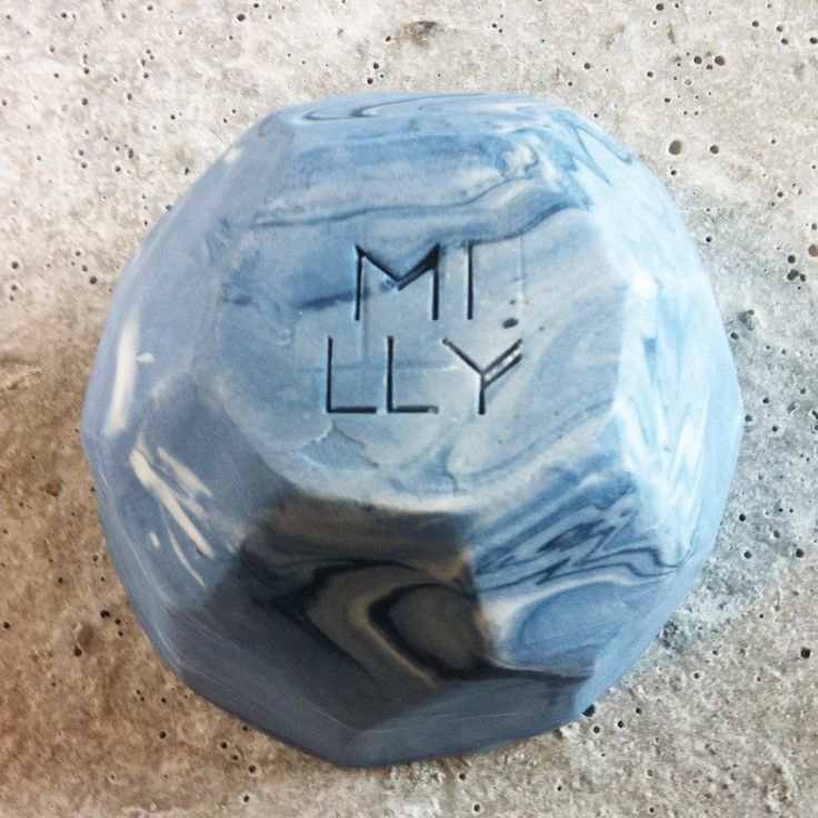 Upside down. Marbled gem cup by Milly Dent