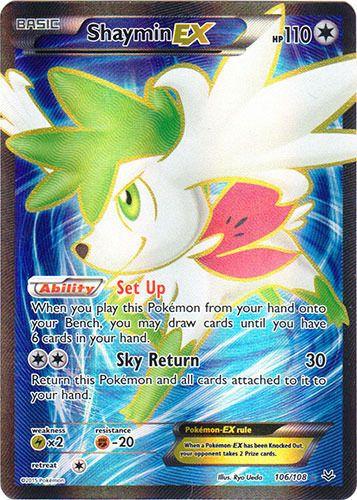 Pokemon Shaymin-EX  106/108  Full Art Ultra Rare NM-Mint English