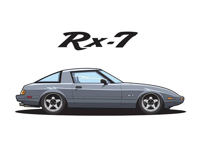 RX-7 FB Owner @bornskydiver66 #mazda #rx7 #fb #sa22 #cars #carart #kyusha #jdm #japan #canada #art #draw #drawing #vector #anime #manga #initiald