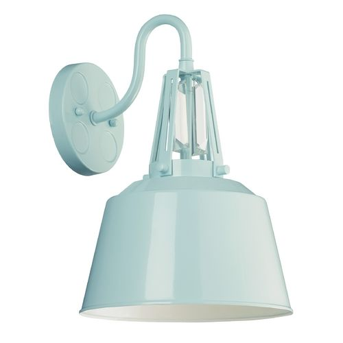 Feiss Lighting Freemont Hi Gloss Blue Outdoor Wall Light | OL15002SHBL | Destination Lighting
