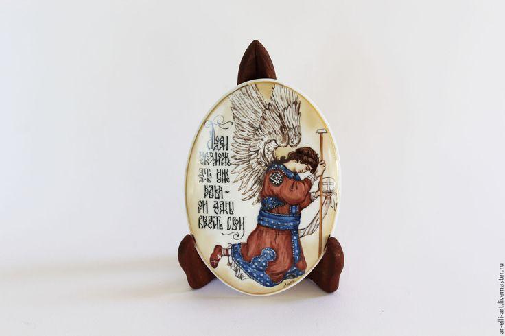 """Купить Роспись фарфора. """"Ангел"""" - роспись фарфора, роспись фарфора на заказ, панно, ангел"""