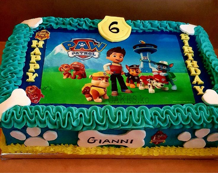 Paw patrol birthday cake. Click link to my business page for more of my work.