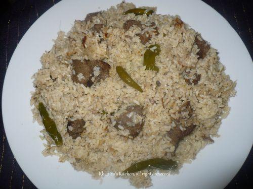 Bangladeshi Beef Tehari Recipe