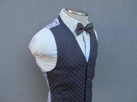 1960s Navy Blue Vest / Size 40 Medium M / Navy Blue Waistcoat