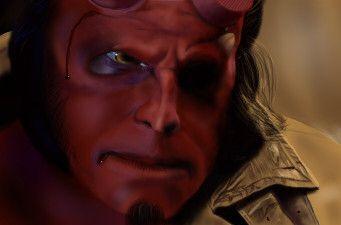 Hellboy- Digital Realism by Madison Welch (sirensong07)